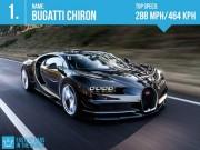 """Thể thao - 10 siêu xe thể thao nhanh nhất thế giới: """"Tên lửa"""" đường phố"""
