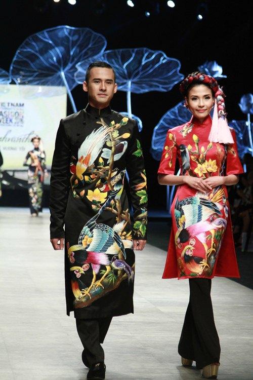 Trương Thị May diện áo dài lộng lẫy làm vedette - 3