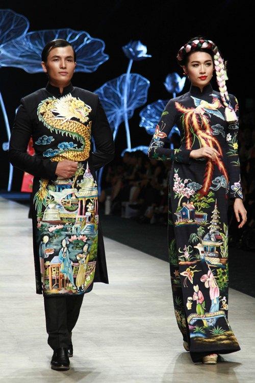 Trương Thị May diện áo dài lộng lẫy làm vedette - 4