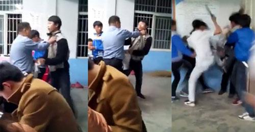 Học sinh lao vào đánh thầy giáo vì bị thu bài kiểm tra - 1