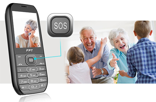 FPT Care – Điện thoại 2 SIM, pin khủng có chức năng gọi điện, nhắn tin khẩn cấp - 1