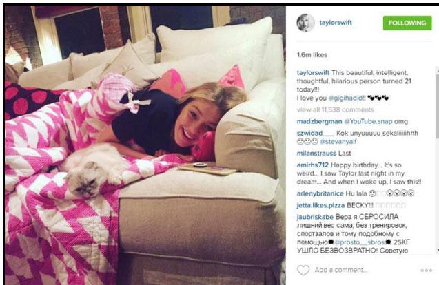 Gigi Hadid đón sinh nhật trên phi cơ của Taylor Swift - 2