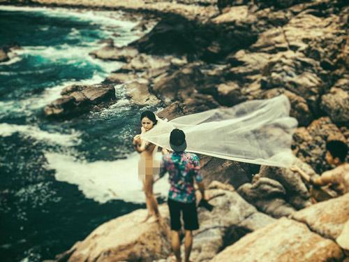Xôn xao bộ ảnh cưới nude của cặp đôi Đà Nẵng - 2