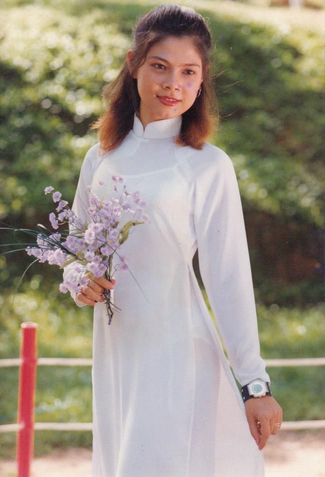Nhan sắc thời thiếu nữ của Thanh Thảo mang vẻ đẹp mộc mạc, giản dị.