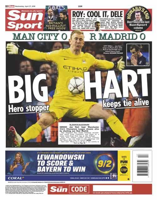 """Báo chí Anh nức nở khen """"siêu anh hùng"""" Joe Hart - 4"""