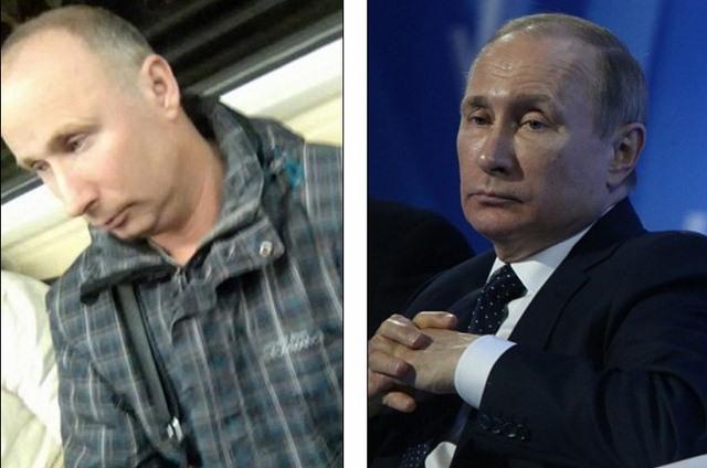 Bắt gặp người giống Putin y xì trên tàu điện ngầm - 1