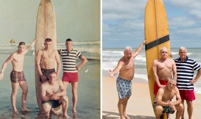 Mỹ: Cựu binh Việt Nam tái hiện bức ảnh cũ sau 50 năm - 1