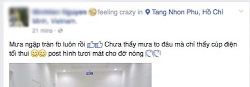 """Facebook """"ngập cá và mưa"""" đêm 27.4 - 3"""