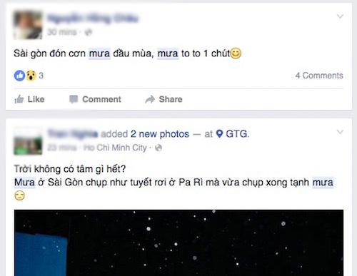 """Facebook """"ngập cá và mưa"""" đêm 27.4 - 4"""