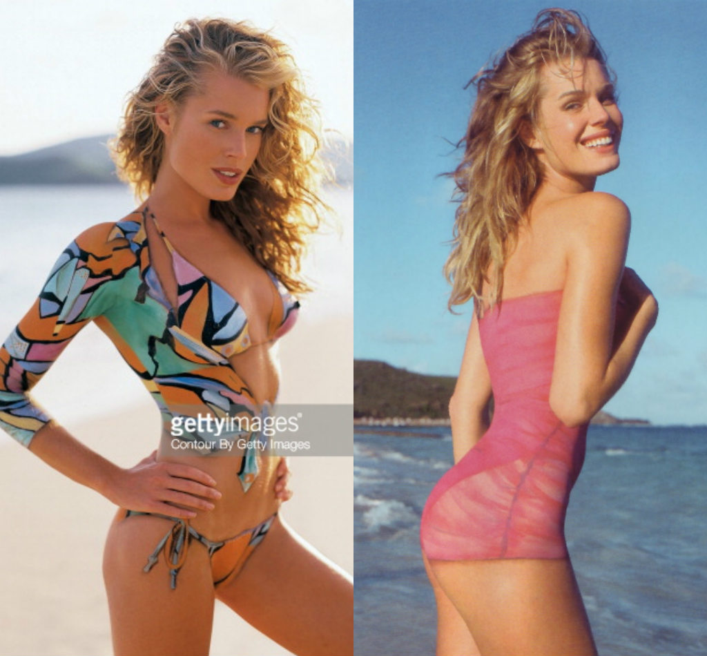 Kate Upton, Heidi Klum vất vả vì nội y vẽ - 2