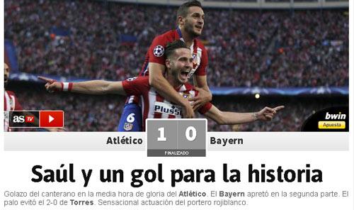 """Báo chí: Bóng đá """"thép"""" Atletico thắng bóng đá đẹp - 1"""