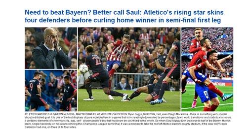 """Báo chí: Bóng đá """"thép"""" Atletico thắng bóng đá đẹp - 3"""