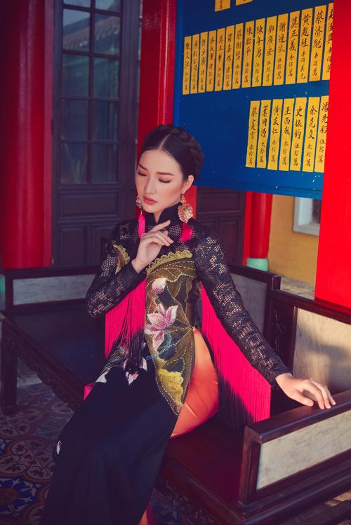Hoa khôi Du lịch đẹp mơ màng với áo dài đậm chất Huế - 4