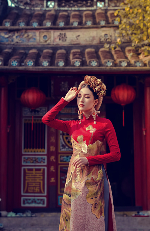 Hoa khôi Du lịch đẹp mơ màng với áo dài đậm chất Huế - 7