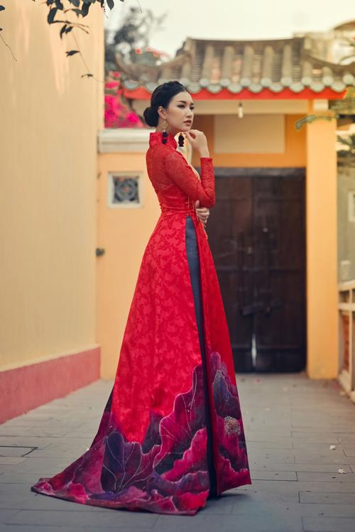 Hoa khôi Du lịch đẹp mơ màng với áo dài đậm chất Huế - 8