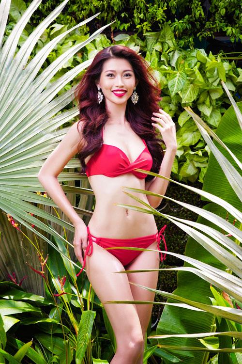 Dàn mỹ nhân thi Hoa khôi Áo dài đẹp mê hồn với bikini - 2
