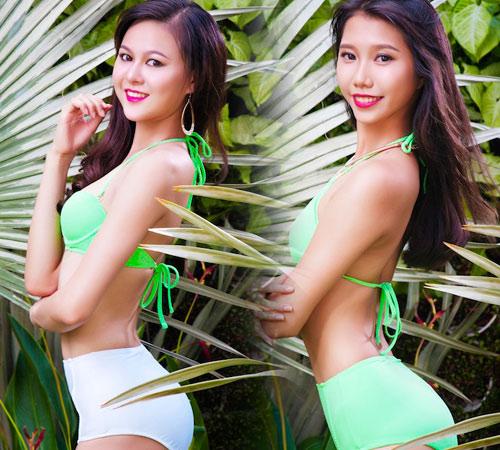 Dàn mỹ nhân thi Hoa khôi Áo dài đẹp mê hồn với bikini - 14