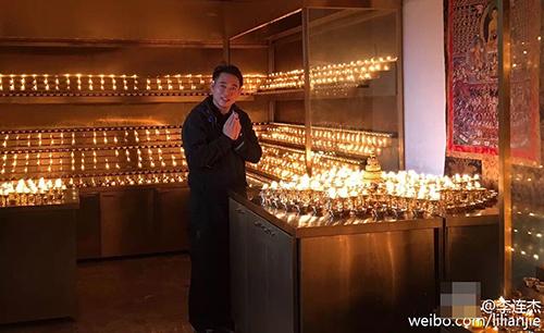 Lý Liên Kiệt tháo kính xuất hiện nơi cửa Phật - 5