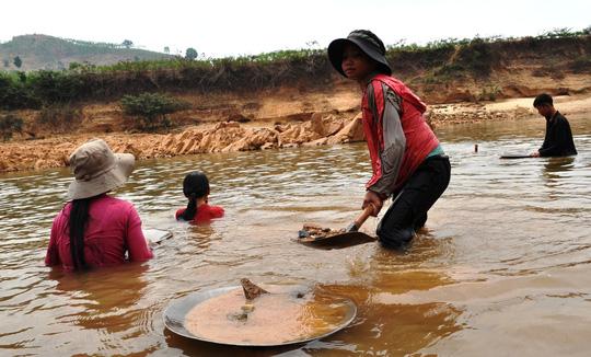 Hàng trăm người ngâm mình dưới chân đập thủy điện tìm vàng - 4