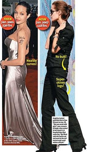Loạt ảnh Angelina Jolie gầy trơ xương vì bệnh biếng ăn - 3