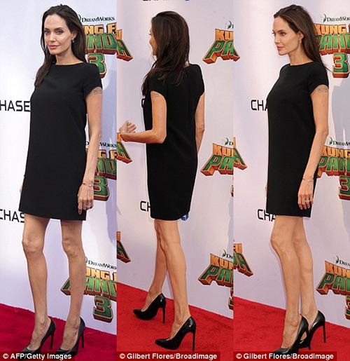 Loạt ảnh Angelina Jolie gầy trơ xương vì bệnh biếng ăn - 8