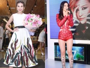 Thanh Hằng kín đáo, Đông Nhi sexy nổi bật tại sự kiện