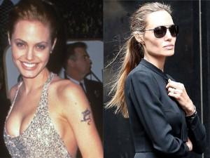 Hậu trường phim - Loạt ảnh Angelina Jolie gầy trơ xương vì bệnh biếng ăn