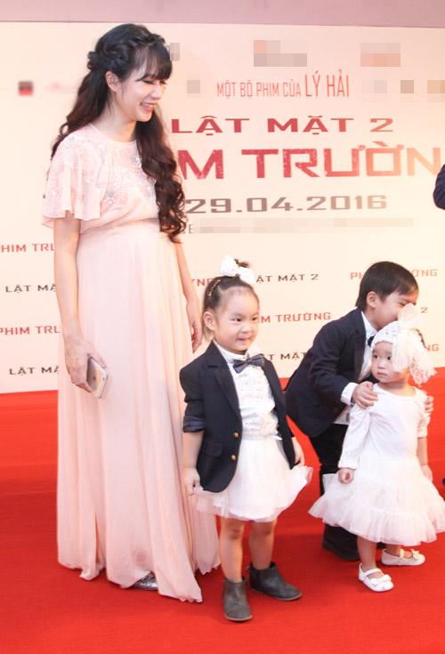 Vợ Lý Hải bầu 6 tháng vẫn tất bật thay chồng chăm con - 2