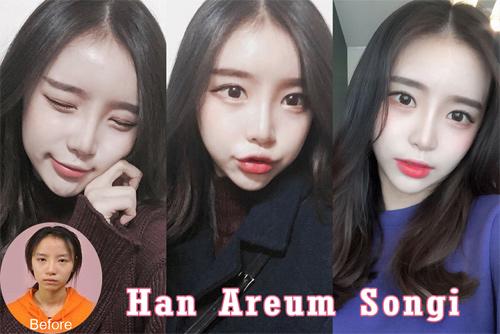 Sốc vì nhan sắc nguyên bản của hot girl đình đám xứ Hàn - 1