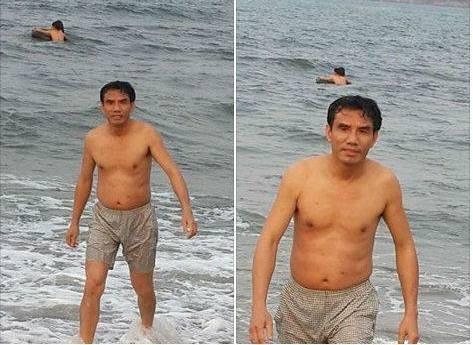 Nghệ An: Chủ tịch Cửa Lò tắm biển, ăn hải sản - 1