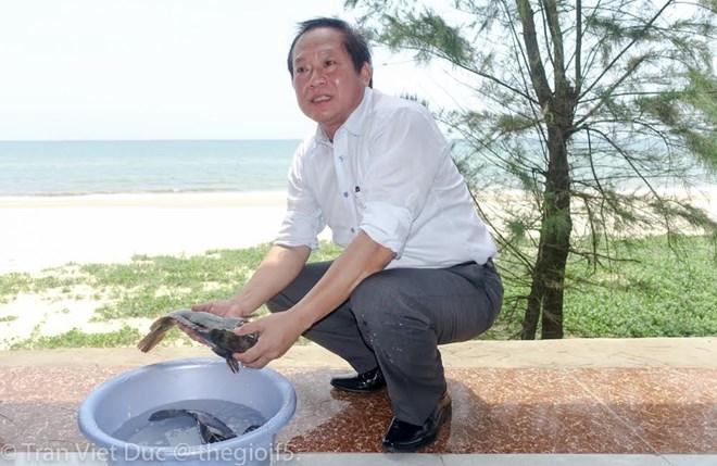 Bộ trưởng Trương Minh Tuấn mời nhà báo ăn cá biển tại Quảng Bình - 1