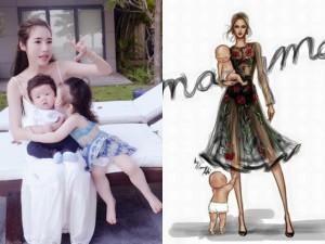 18 khoảnh khắc hạnh phúc của mẹ con Elly Trần