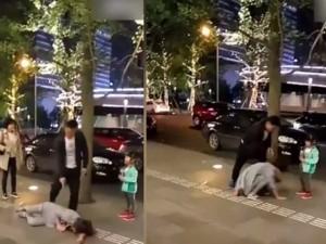 Nghi ngoại tình, chồng đánh đập vợ trước mặt con gái