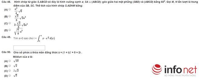 Bài thi thử phần Tư duy định lượng kỳ thi đánh giá năng lực - 10