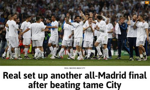 Báo chí Anh chê Man City, hân hoan với Real - 1
