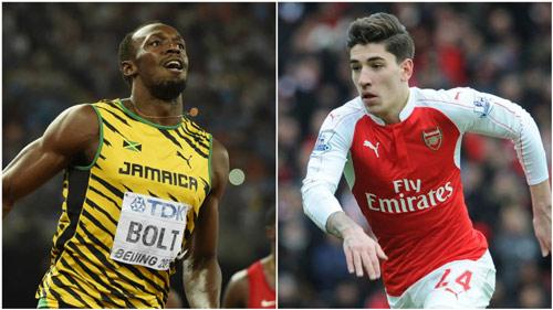 """SAO Arsenal """"thách đấu"""" tốc độ với Usain Bolt - 1"""