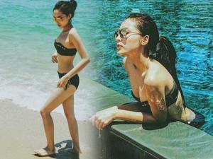 Kỳ Duyên khoe thân hình bikini hấp dẫn ở Phan Thiết
