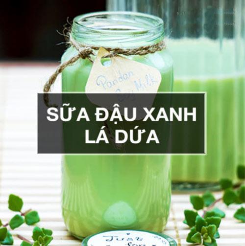 Cách làm sữa đậu xanh lá dứa thơm ngon, mát lành - 5