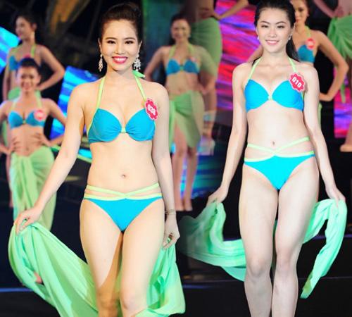 """Thí sinh Hoa hậu Biển thi bikini """"đốt nóng"""" Tuần Châu - 13"""