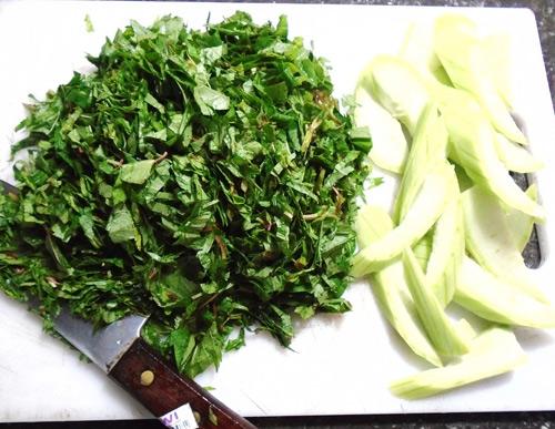 Canh cáy nấu mướp, rau đay ngọt mát - 4