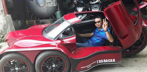 Xuất hiện xe 5 bánh tự chế quái dị ở Việt Nam - 1