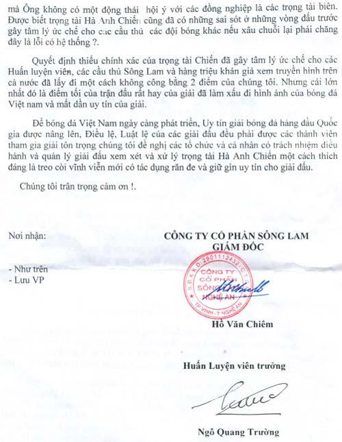"""SLNA đòi """"đuổi"""" vĩnh viễn trọng tài Hà Anh Chiến - 3"""