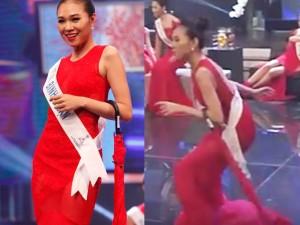 Người đẹp Bình Thuận 2 lần suýt ngã trên sân khấu