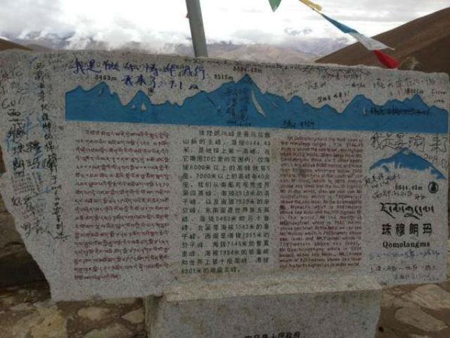 Dân Trung Quốc vẽ, khắc chằng chịt trên đỉnh Everest - 1