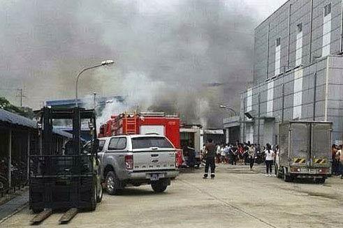Cháy tại Vĩnh Phúc, nhiều người hoảng loạn - 1