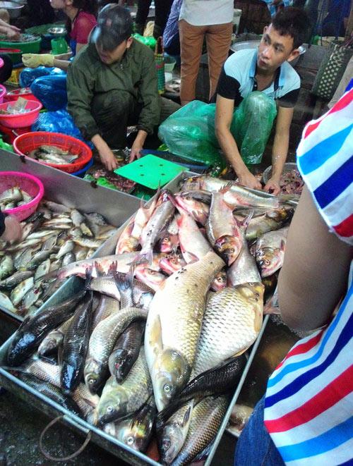 """Tấp nập khách """"săn"""" cá ươn giá rẻ tại chợ thực phẩm HN - 1"""