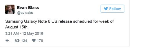 Lộ thời điểm Galaxy Note 6 ra mắt - 1