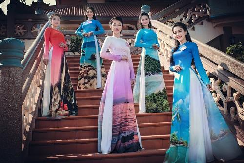 Thi sinh Hoa hậu Biển thướt tha trong tà áo dài - 5