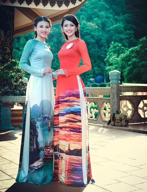 Thi sinh Hoa hậu Biển thướt tha trong tà áo dài - 8