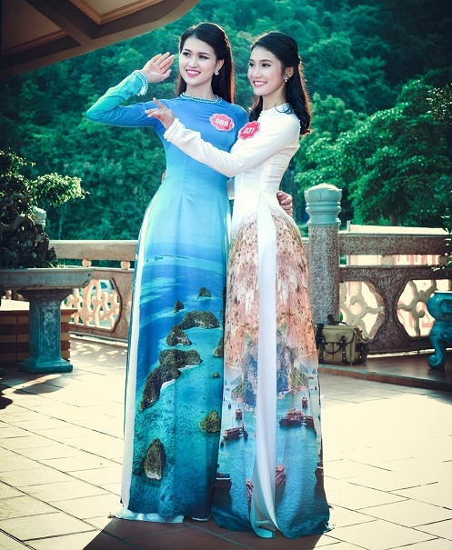 Thi sinh Hoa hậu Biển thướt tha trong tà áo dài - 10